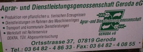 Agrar- & Dienstleistungsgenossenschaft Geroda eG